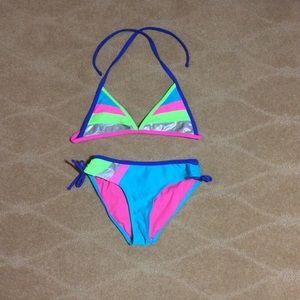 Aeropostale Girls PS09 Bright Color Bikini, 8